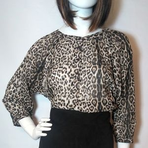 Cotton On Leopard Print Blouse